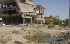 La base dei Carabinieri a Nassiriya dopo l'attentato del 12 novembre 2003