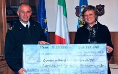 Il generale Roberto Boi con la presidente di Acm Antonella Romanini