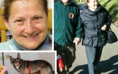 Giuliana Cresti ed il suo cane Artù