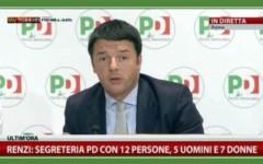 Matteo Renzi nelle vesti di nuovo segretario del Pd
