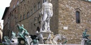 Il Biancone in piazza della Signoria a Firenze