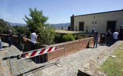 I bastioni al Forte Belvedere luogo dell'incidente