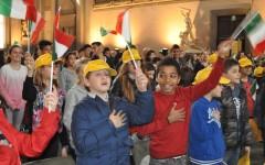 Firenze, omaggio al Tricolore con le scuole e i Rotary (Video - Foto)
