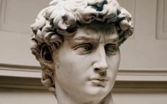 Michelangelo, il David in un francobollo
