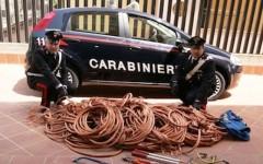 Forze dell'ordine al lavoro contro il crescente fenomeno dei furti di rame