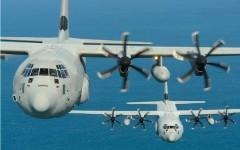 Una coppia di C130J Hercules da trasporto