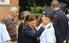 Primo giorno per gli allievi della Scuola Militare Douhet