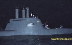 Abbiamo raggiunto di notte il sommergibile Scirè nel Mar ionio