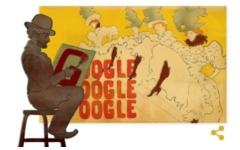 Doodle d Google per Tolouse Lautrec