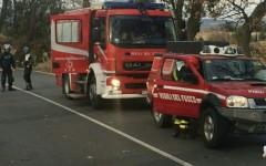 I Vigili del fuoco nel luogo dell'incidente