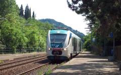 Un tratto della ferrovia Faentina