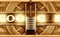 Il doodle dedicato ad Alessandro Volta