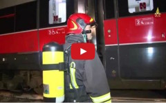 «Treno in fiamme in galleria tra Firenze e Bologna»: tutte le immagini dell'esercitazione Mugello 2015 (Video)