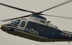 Un elicottero A109 dell'8° reparto volo della Polizia di Stato