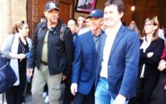 Firenze, al regista di «Inferno» Ron Howard le Chiavi della Città. Nardella: «Ormai sei fiorentino...»