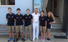 Viareggio, cinque ragazzi a «scuola di cultura del mare» in Capitaneria di Porto