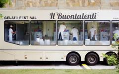 laboratorio mobile da gelateria a vista del Gelato Festival 2015