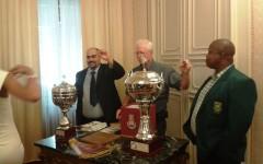 Livorno: Campionato mondiale di dama inglese. Il campione in carica, Michele Borghetti, contro il sudafricano Lubabalo Kondlo