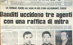La prima pagine de Il Telegrafo del 23 ottobre 1975