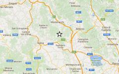 Terremoto anche tra Siena e Arezzo. Scossa di magnitudo 2,7. Nessun danno a persone o cose