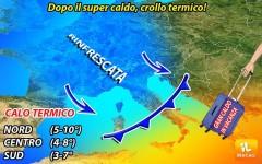 Meteo: dopo il caldo di Nerone, arriva Flash Storm. Temperature in calo anche di 10°