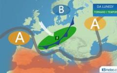 Meteo: da domani 29 acquazzoni al Nord, dal 30 anche al Centro Italia, ma da giovedì torna l'alta pressione