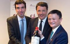Cina: Renzi fa accordi con Alibaba, catena di e-commerce. Promozione del nostro vino e tutela del made in Italy