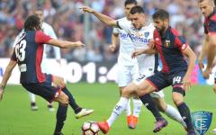 Empoli: buon punto in trasferta con il Genoa in dieci per un'ora (0-0). Agli azzurri però manca il gol. Pagelle