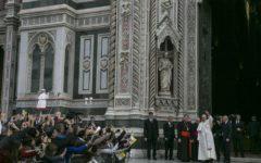 Firenze, Duomo: lapide che ricorda visita di papa Francesco scoperta dopo il Te deum dal card. Betori