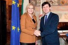 Firenze: il sindaco Nardella incontra Corinna Cretu, commissaria Ue alla politica regionale