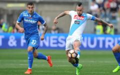 L'Empoli sfiora la rimontona, ma vince il Napoli: 2-3. Maccarone: 100 gol in azzurro. Pagelle