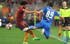 Doppietta di Dzeko: la Roma batte facilmente l'Empoli (2-0). Martusciello molto preoccupato. Pagelle