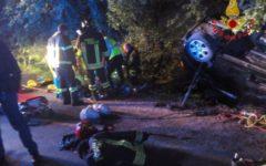 Empoli: ferito gravemente nell'auto ribaltata, ricoverato all'ospedale in codice rosso