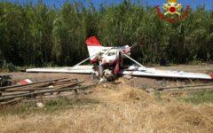 Cecina (Li): cade piccolo aereo. Cinque feriti, uno grave (foto)