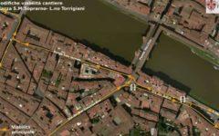 Firenze: riapre al traffico il tratto lungarno Torrigiani - via dei Bardi