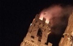 Siena: incendio sulla Torre del Mangia. Paura, intervengono i vigili del fuoco