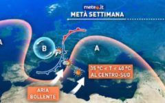 Meteo: temporali in arrivo da domani 10 agosto, anche al Centro