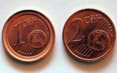 Monete euro: restano quelle da 1 e 2 centesimi, governo costretto a fare retromarcia