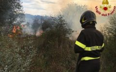Grosseto: quattro incendi boschivi, in azione i vigili del fuoco