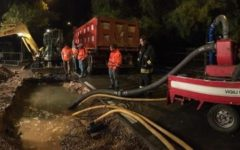 Grosseto: città senz'acqua per la rottura di un tubo. Voragine nella strada
