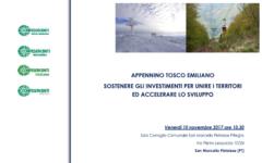 Appennino Tosco – Emiliano; Sostenere gli investimenti ed accelerare lo sviluppo