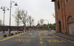 Firenze: protesta degli edili davanti ai cantieri della tramvia
