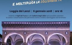 Firenze: la befana dei Vigili del fuoco alla Loggia dei Lanzi il 6 gennaio