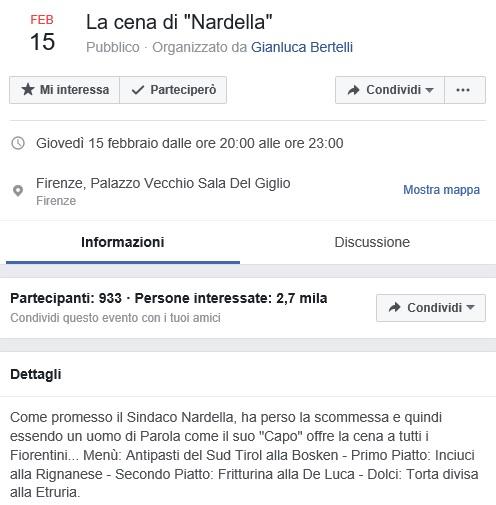 In duemila alla cena fake di Nardella