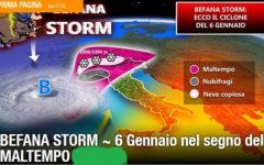 Meteo: per la Befana arriva il primo ciclone dell'anno