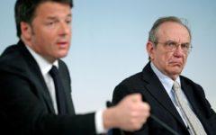 Elezioni, Renzi: «Ho chiesto a Padoan di candidarsi a Siena»