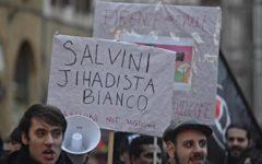 Salvini a Firenze: protesta di 300 antagonisti contro l'appuntamento elettorale del Segretario leghista
