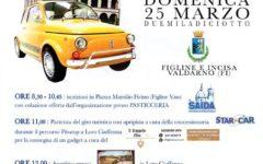 Figline: raduno n.17 delle Fiat 500 nel Valdarno. Il 25 marzo il giro turistico