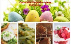 Menù di Pasqua: crostini, pasta al pesto di noci, costolette di agnello ripiene, Eton mess,