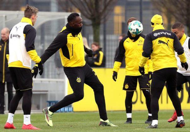 Bolt, doppietta nel 'provino' col Borussia Dortmund